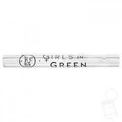 TIP DE VIDRO HIPPIE BONG GIRLS IN GREEN LISO 6 MM 5,5 CM