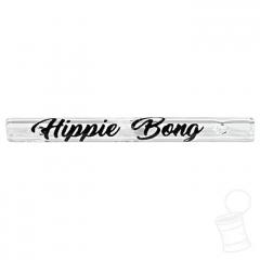 TIP DE VIDRO HIPPIE BONG LISO 4 MM 3,5 CM SCRIPT PRETO