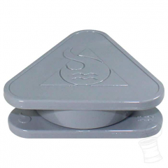TRITURADOR SQUADAFUM PLASTICO TRIANGULAR GREY