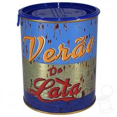 LATA VERÃO DA LATA GRANDE AZUL DA COR DO MAR