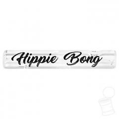 TIP DE VIDRO HIPPIE BONG LISO 6 MM 3,5 CM SCRIPT PRETO