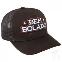 BONÉ BEM BOLADO BROWN COM TELA