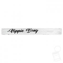 TIP DE VIDRO HIPPIE BONG LISO 6 MM 5,5 CM SCRIPT PRETO